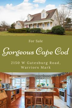 Quality and elegance best describes this  stunning Cape Cod at 2150 W Gatesburg Road, situated perfectly on a 1 acre lot in the SCASD! Lots of recent improvements including a converted 2 car into stunning family room with custom sliding Barn door, new oversized 2 plus car garage with pass through doors 28x28 and large deck in quiet, rural setting! Call KBB at 814-234-4000 for a showing! It's a must see! Cape Cod Exterior, Centre City, Thing 1, State College, Property Search, Property Listing, Car Garage, Nice View