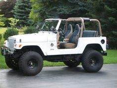 1999 Jeep Wrangler Pictures: See 511 pics for 1999 Jeep Wrangler. Browse interior and exterior photos for 1999 Jeep Wrangler. Get both manufacturer and user submitted pics. White Jeep Wrangler, 1997 Jeep Wrangler, Cj Jeep, Jeep Rubicon, Jeep Cars, Jeep Truck, Jeep Wrangler Off Road, Jeep Wrangler Interior, Pickup Trucks