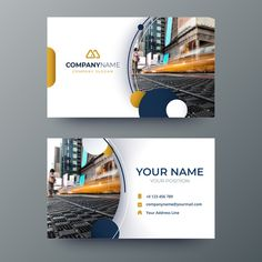 Business card Vectors, Photos and PSD files Business Cards Layout, Professional Business Card Design, Luxury Business Cards, Elegant Business Cards, Calling Card Design, Certificate Design Template, Construction Business Cards, Visiting Card Design, Letterhead Design