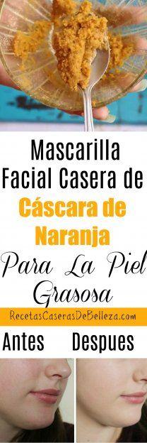 Mascarilla Facial Casera de Cáscara de Naranja