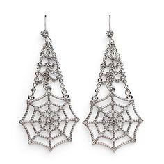 Spider-Man Web Crystal Dangle Earrings