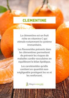 Fruit and Vegetable Benefits - Clementine // Benefits Healthy and Healthy . Fruit Nutrition, Smart Nutrition, Nutrition Chart, Proper Nutrition, Nutrition Guide, Fitness Nutrition, Healthy Oils, Healthy Recipes, Home Remedies