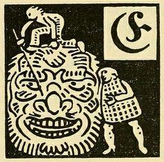 Illustrated initial from Deutsche Märchen seit Grimm (German Fairytales since Grimm), a German fairytale book from 1919.