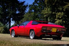 Impressive rear view of a beautiful red Lamborghini Silhouette, one of only 52 ever made.