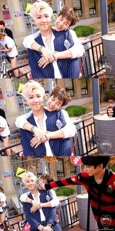 Love how rap monster moves away when Jimin tires to kiss him!