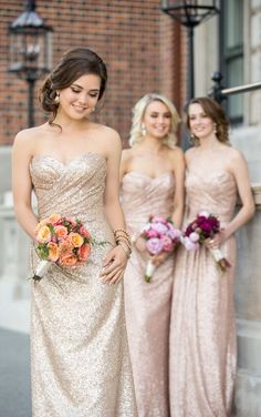 8834 Long Metallic Sequin Bridesmaid Dress by Sorella Vita