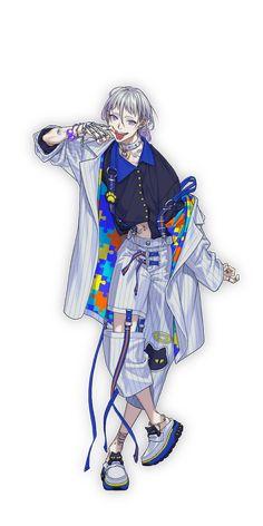 棗リュウ | CHARACTER | Paradox Live(パラライ)公式サイト Game Character Design, Character Design Inspiration, Character Concept, Character Art, Concept Art, Female Characters, Anime Characters, Fashion Design Drawings, Boy Poses