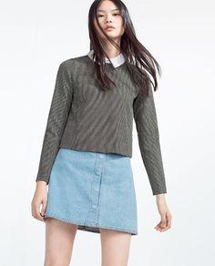Image 3 of POPLIN COLLAR TOP from Zara