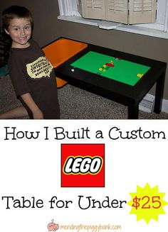 Mending the Piggy Bank | How I Built A Custom LEGO Table for Under $25 -- Easy DIY LEGO table that's great for LEGO organization and LEGO storage. You can easily make this in one day too!