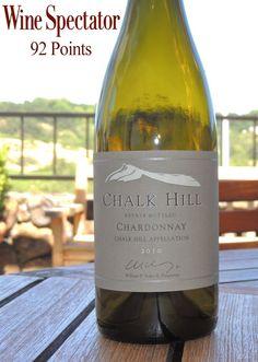 Chalk Hill Estate 2010 Chardonnay - 92 Points from Wine Spectator. Wine Accolades.