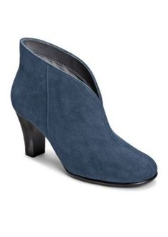 A2 by Aerosoles Dk Blue Fabric Gold Role Bootie