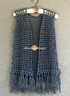 Maglia Crochet Mesh Vest Pattern - ChristaCoDesign