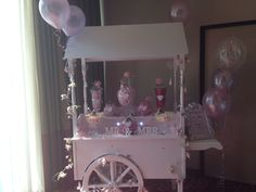 I love it when brides request ' pink ' candy cart sweets and decorations Candy Cart, Pink Parties, Pink Candy, Caravan, Brides, Sweets, Decorations, Party, Crafts