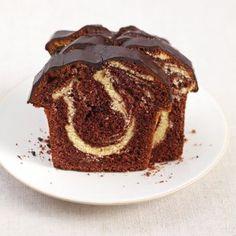 Marmorkuchen mit Chocolade Glasur