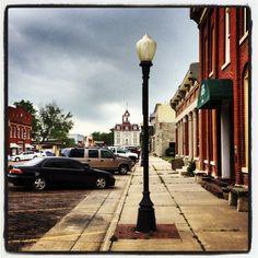 Walking down the street in Cottonwood Falls, KS