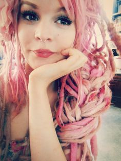 Pink Braided Dreads