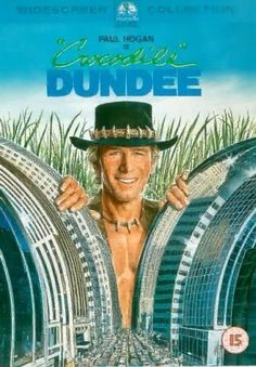 "Crocodile Dundee (1986) Poster - ""That's not a knife... Now that's a knife."""