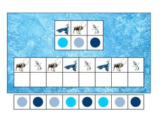 Board and tiles for the Frozen visual perception game. By Autismespektrum