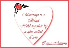 Congratulations for a wedding: Messages, poems and quotes for wedding cards
