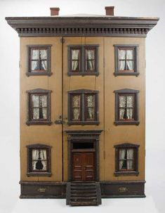 Lot: Somerville Mass. Dolls' House Mansion, Lot Number: 0369, Starting Bid: $5,000, Auctioneer: Pook & Pook, Inc. with Noel Barrett, Auction: The Flora Gill Jacobs Private Collection (II), Date: April 12th, 2014 EDT