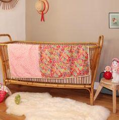 Baby blanket. Liberty  Barnabé aime le café  www.barnabeaimelecafe.com