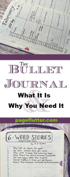 Bullet Journal: What it is & Why You Need it   pageflutter.com   Bullet journaling revolutionized how I organize my inspiration and clarified my goals. This system is so simple; it's pure genius!
