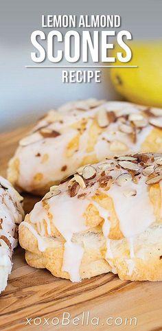 Scones And Jam, Cheese Scones, Lemon Scones, Cream Scones, Best Scone Recipe, Scone Recipes, Dessert Recipes, Breakfast Recipes, Sweet Breakfast