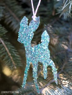 Lemon Jitters: Last Minute Christmas Craft: Glittery Ornaments