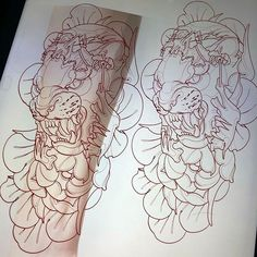 tattooluckyone@yahoo.co.uk ✏️✏️✏️✏️✏️✏️✏️✏️✏️✏✏️✏️✏️✏️✏️✏️✏️️#nrstudio #tattoo #tattoos #neotraditional #tattooing #neotraditionaltattoo… Octopus Tattoo Sleeve, Oni Tattoo, Tattoo Sleeve Designs, Tattoo Designs Men, Sleeve Tattoos, Tiger Tattoo Design, Sketch Tattoo Design, Tattoo Sketches, Rite De Passage