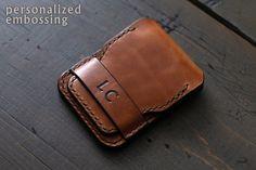 Leather ID Wallet Lanyard Minimalist Wallet Biker Wallet Minimalist Leather Wallet, Slim Leather Wallet, Slim Wallet, Leather Bag, Badge Wallet, Edc Wallet, Simple Wallet, Card Holder, Etsy
