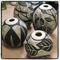 Sgraffito vases