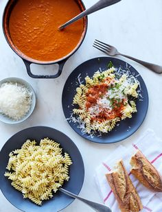 There are certain nights when nothing but a heaping bowl of pasta will do. The from-scratch recipes below take about as much time to make as a round-trip to the grocery store for a jar of marinara, and as promised, can (almost) all be prepped ahead of time and frozen for future use.