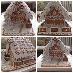 gingerbread house on all four sides