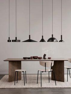 Scandinavian Kitchen, Scandinavian Design, House Paint Interior, Interior Design, Small Dinner Table, Luminaire Design, Burke Decor, Rustic Walls, House Doctor
