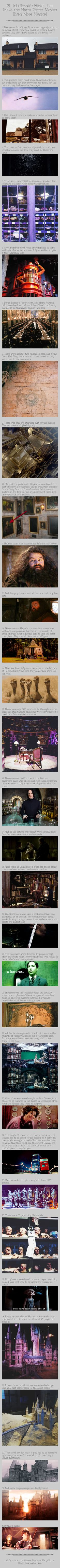 31 Unbelievable Facts That Make the Harry Potter Movies Even More Magical | I love the attention to detail! It just makes the movies so amazing