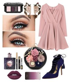 """Gala Evening "" by xdarinafxhs on Polyvore featuring Mode, Schutz, Nak Armstrong, Yves Saint Laurent, Kat Von D und Kate Spade"