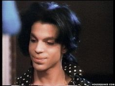 Prince looked so cool here, in a great mood, taken from rare video at his make up chair during the Lovesexy tour.
