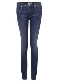 Hudson Gia Mid Rise Skinny Jeans - Hackney