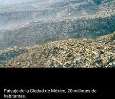 Paisaje de la ciudad de Mexico. 20 millones de habitantes.