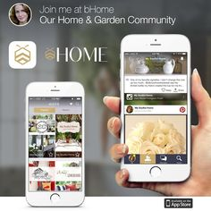 You will want to check this out. I along with some of your favorite bloggers all in one spot. Download the app today!bHome - the home & garden app visit bHome.us Download it free & join a community of inspiration, creativity & connection. It is sooo easy to use, fun & beautiful #bHomeApp