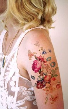 Pretty Tattoos For Women Cool Colorful Arm Tattoo Tattoo Femeninos, Shape Tattoo, Color Tattoo, Body Art Tattoos, New Tattoos, Small Tattoos, Sleeve Tattoos, Yakuza Tattoo, Tiny Tattoo