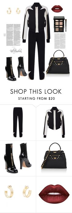 """""""Untitled #97"""" by kill4fashion ❤ liked on Polyvore featuring Elie Saab, Valentino, Fendi, Cartier, Lime Crime and Bobbi Brown Cosmetics"""