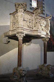 Chiesa di San Giovanni Fuorcivitas - Pistoia - Pulpito di Fra Guglielmo ( 1270 )