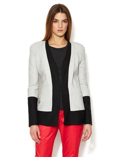 Linen Colorblock Jacket by Narciso Rodriguez at Gilt