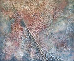 Desiree DeMars | Axis Mundi II | beeswax, oil, on wood panel 40x36x1.5 /sm
