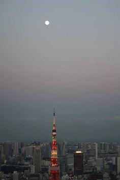 東京タワー 月