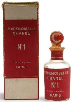 Mademoiselle Chanel No.1 perfume bottle adn box