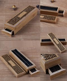 [Visit to Buy] Bamboo Zen Incenso Burners Incense Holder Double Drawer Joss-stick Box Lying Censer Classical Hollow Antique Finish Tea Culture Home Temple, Buy Bamboo, Tea Culture, Organiser Box, Wooden Case, Incense Holder, Incense Burner, Zen, Tea Cups