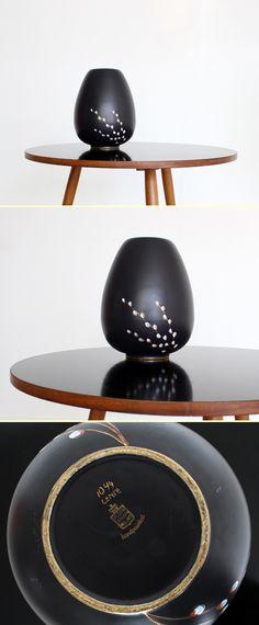 Ceramic vase by Flora Gouda Holland by P.A. Eikenboom