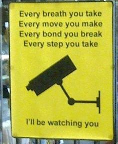 Finally, an appropriate way to use that stalker song by The Police.